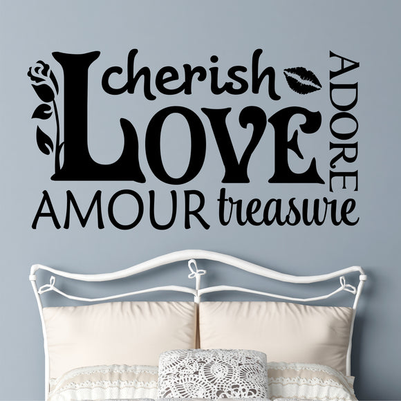 Wall Decal Love Word Collage