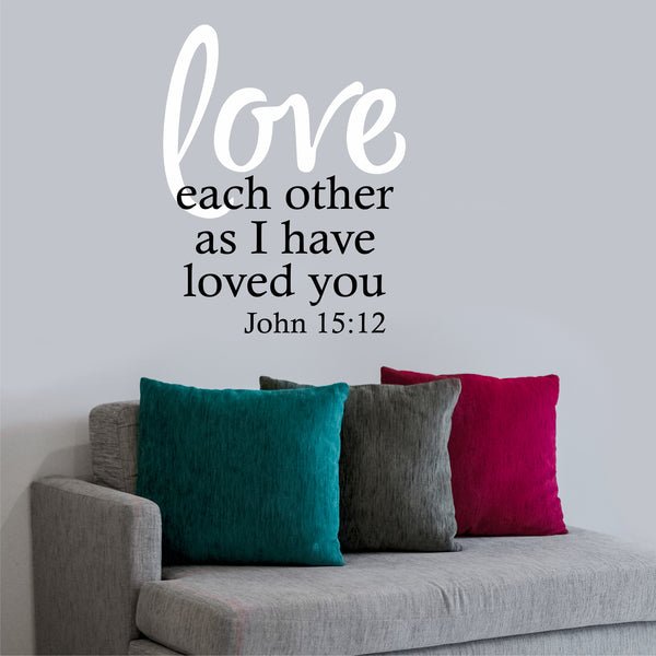 Love Each Other Religious: Vinyl Wall Lettering