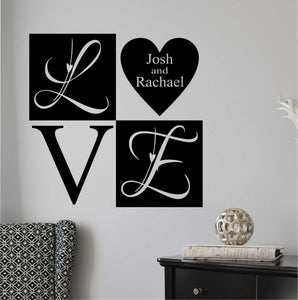 Custom Wall Decal Love Heart Block