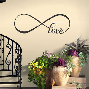 love infinity wall decal