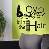 Wall Decal Love is in the Hair