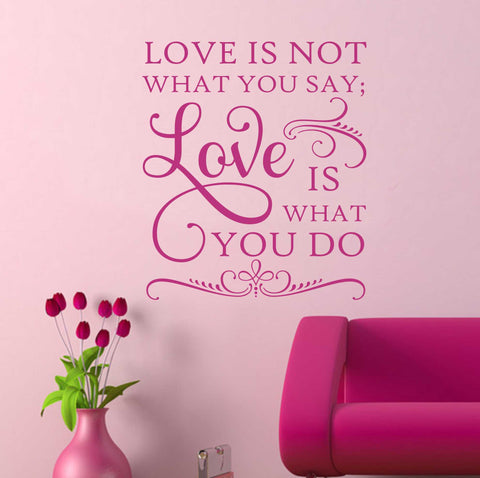 Bedroom Wall Decal Love is What You Do Romantic Vinyl Lettering