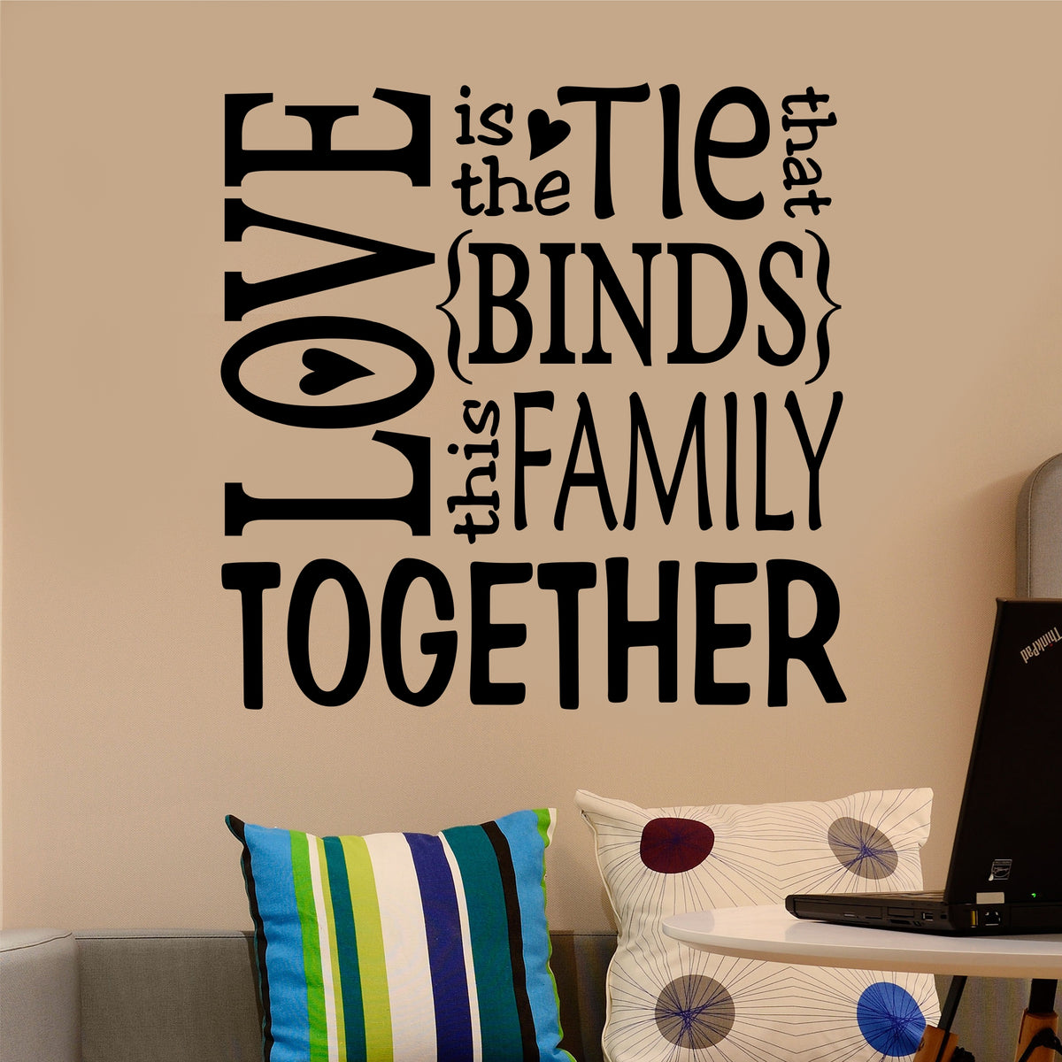 Home Wall Decal Love Binds This Family Together Vinyl
