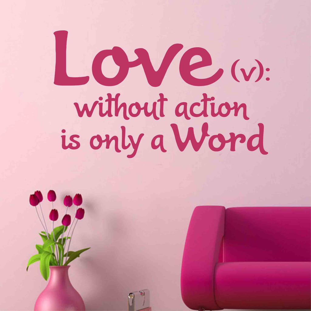 Love is a Verb Decal | Vinyl Wall Lettering | Vinyl Wall Quotes