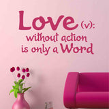 love only a word wall decal