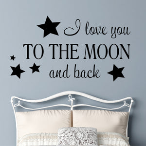 Wall Decal I Love you to the Moon