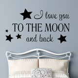 Love you to the Moon Decal | Vinyl Lettering | Wall Quotes