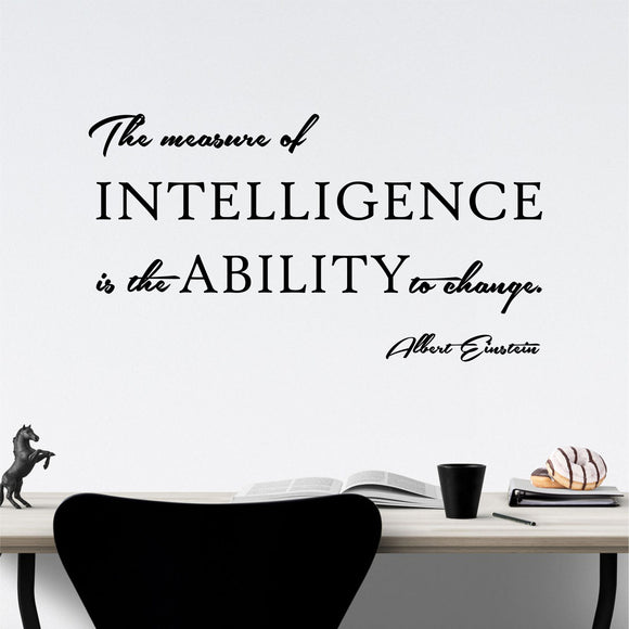 Wall Decal Measure of Intelligence