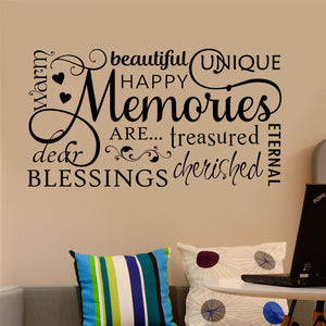 Wall Decal Family Memories Word Collage