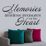 Memories are Treasures Quote | Vinyl Wall Lettering | Vinyl Decals