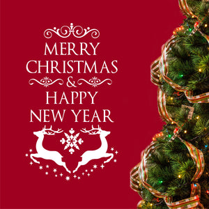 Wall Decal Merry Christmas Happy New Year