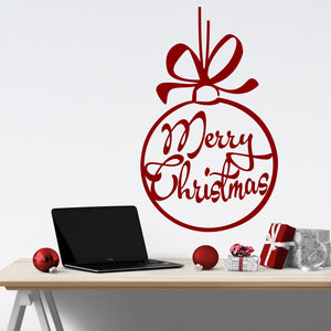 Wall Decal Merry Christmas Big Hanging Ornament