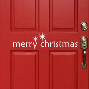 Holiday Wall Decal Merry Christmas Star Vinyl Door Sign