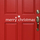Merry Christmas Door Sign | Holiday Vinyl Decals | Vinyl Lettering