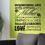 Wall Decal Mother Word Collage