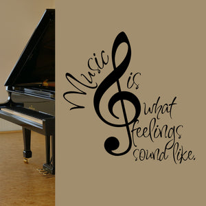 Wall Decal Treble Clef Music is Feelings