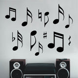 Wall Decal Assorted Musical Notes