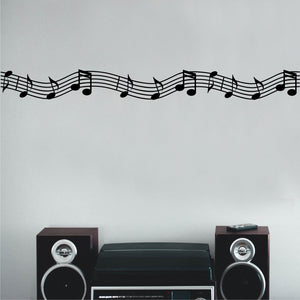 Wall Decal Musical Staff Accent Border