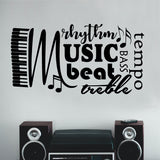 Musical Wall Decal Music Word Collage Classroom Decor