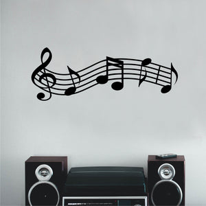 Wall Decal Musical Staff