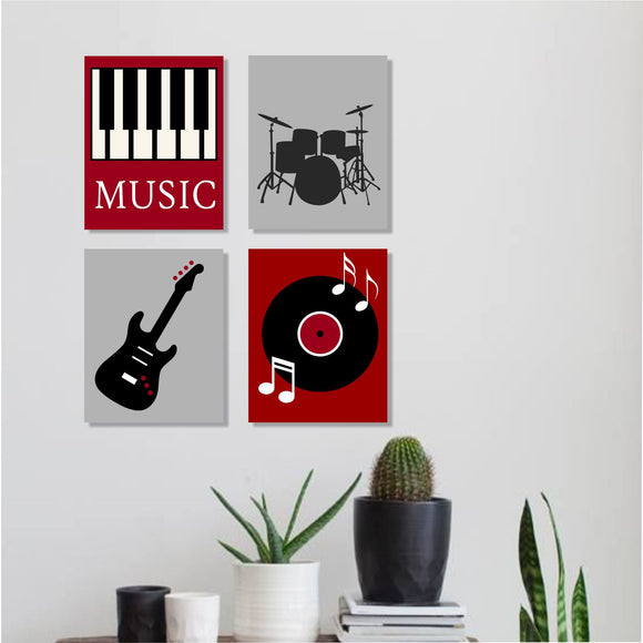 musical themed canvas wall art