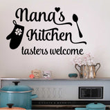 Wall Decal Nana's Kitchen Tasters Welcome