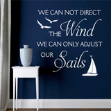 adjust sails nautical wall decal