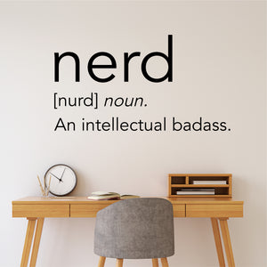 nerd definition wall decal