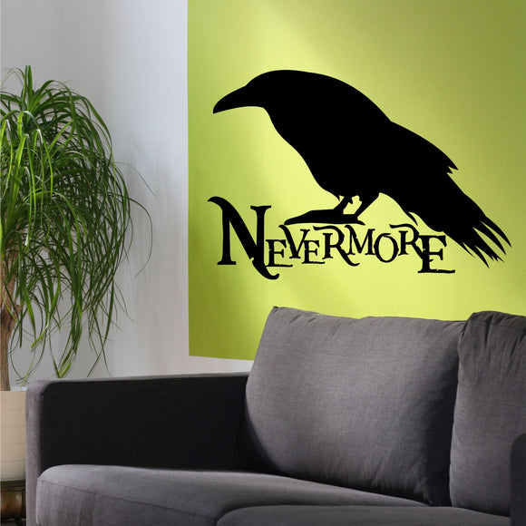 Wall Decal Nevermore Raven