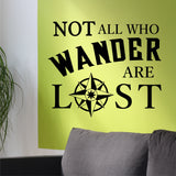 Not all who Wander | Compass Rose Decal | Vinyl Wall Lettering
