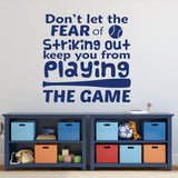 Wall Decal Fear of Striking Out Nursery