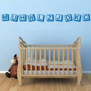 Wall Decal Alphabet Block Border