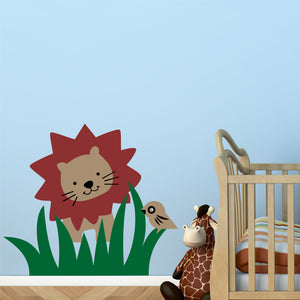 Wall Decal Zoo Animals Lion