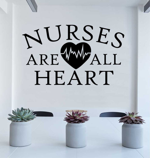 Wall Decal Nurses Are All Heart