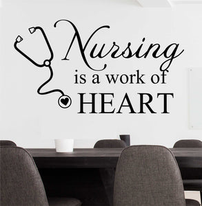 Wall Decal Nursing is Work of Heart