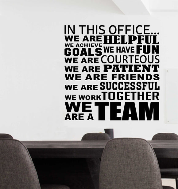 Wall Decal In This Office Team Collage