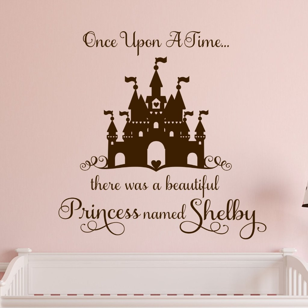 Once Upon a Time | Princess Castle Decal | Vinyl Wall Lettering