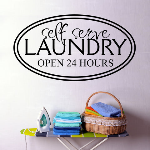 Laundry Self Serve Decal | Vinyl Lettering | Wall Quotes