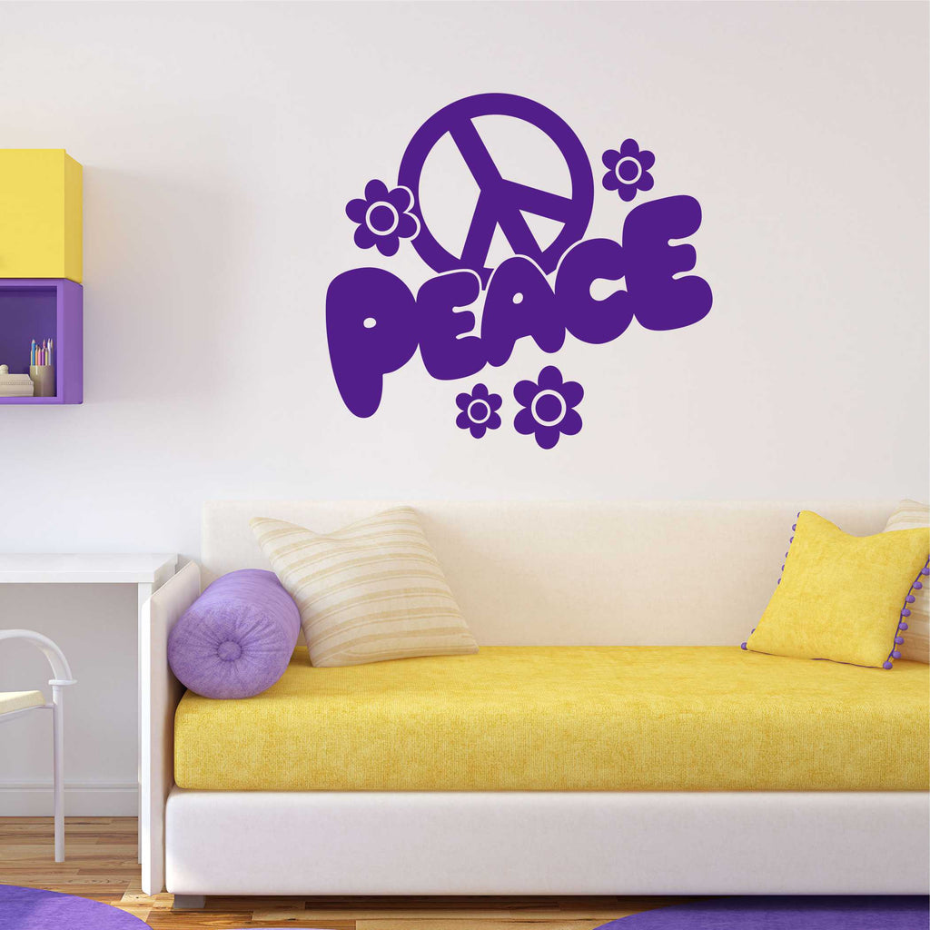 Peace Sign Decal | Vinyl Lettering | Wall Quotes | Vinyl Wall Art