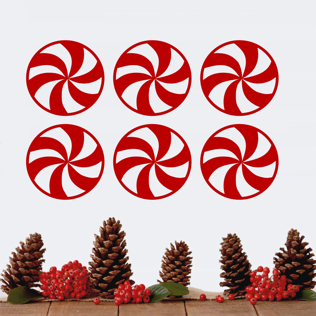 Peppermint Candies Set | Christmas Decal | Holiday Decoration
