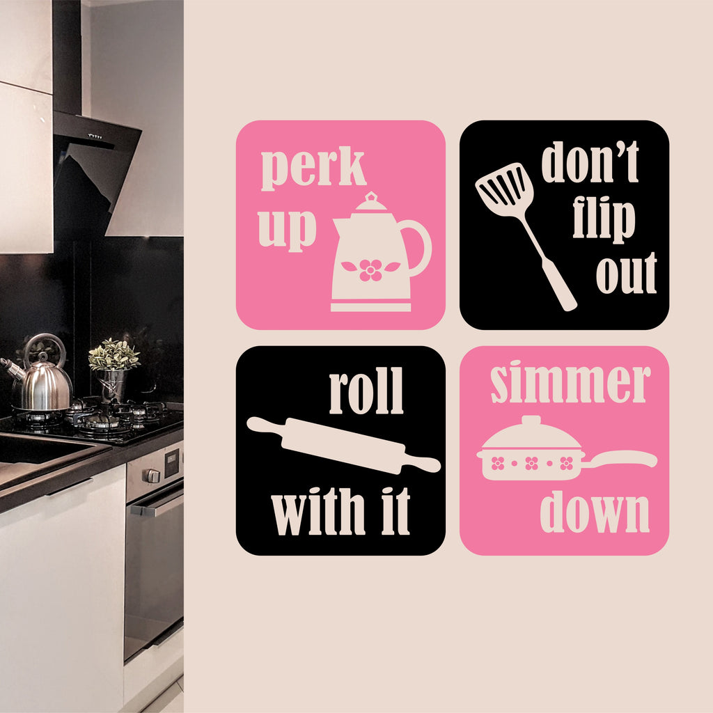 Perk Up Simmer Down | Kitchen Decal | Vinyl Wall Lettering
