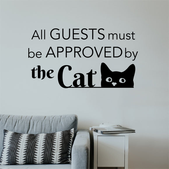 cat wall decal guests approved