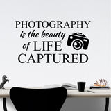 Photography Beauty of Life Quote | Vinyl Lettering | Wall Decals