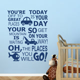 Places You Will Go | Transportation Decal | Vinyl Wall Letters