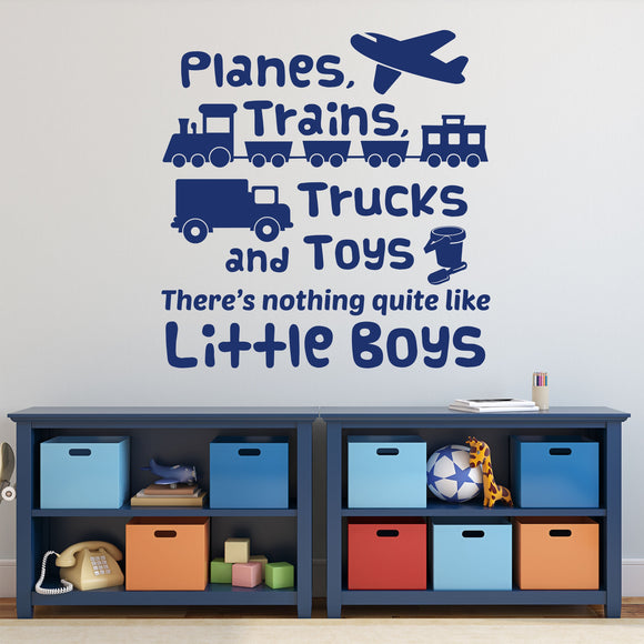 Planes Trains Trucks wall decal