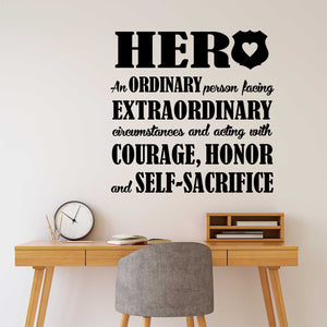 Wall Decal Police Officer Hero Definition