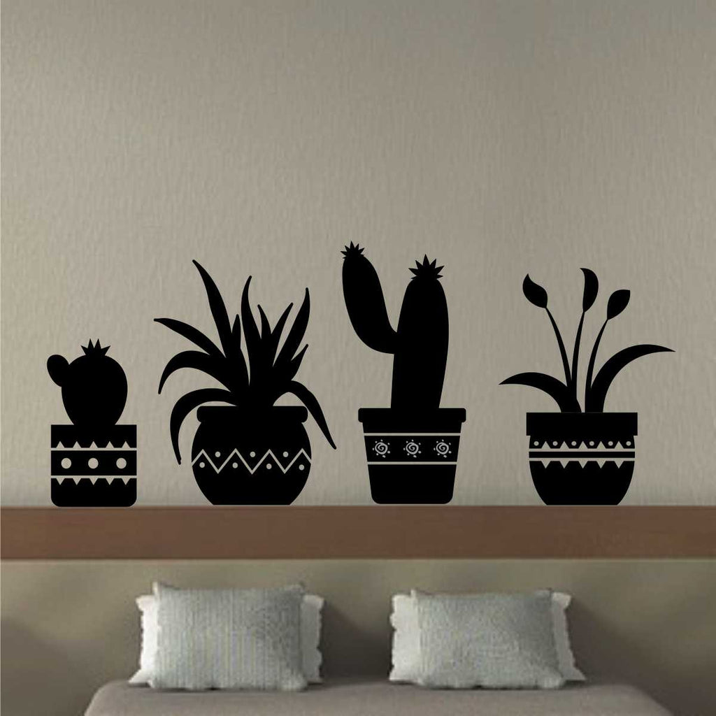 potted plant decals