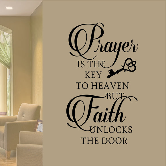 Prayer is Key wall decal