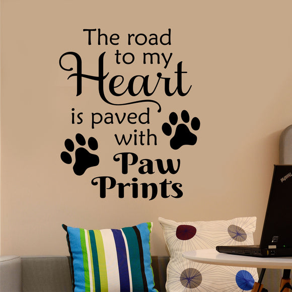 pet owner wall decal