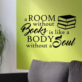 Room Without Books Decal | Vinyl Wall Lettering | Wall Quotes
